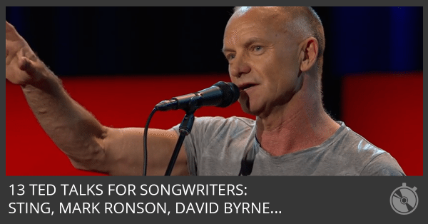 13 Inspiring TED Talks To Help You Be An Outstanding Songwriter