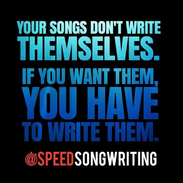 Is there a song you've been wanting to finish? Take an hour and finish it. Then write the next one. Creativity is the best habit. 😀
