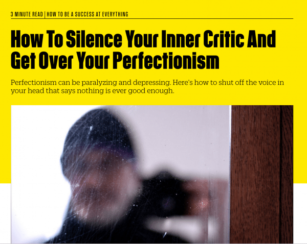 How To Silence Your Inner Critic And Get Over Your Perfectionism