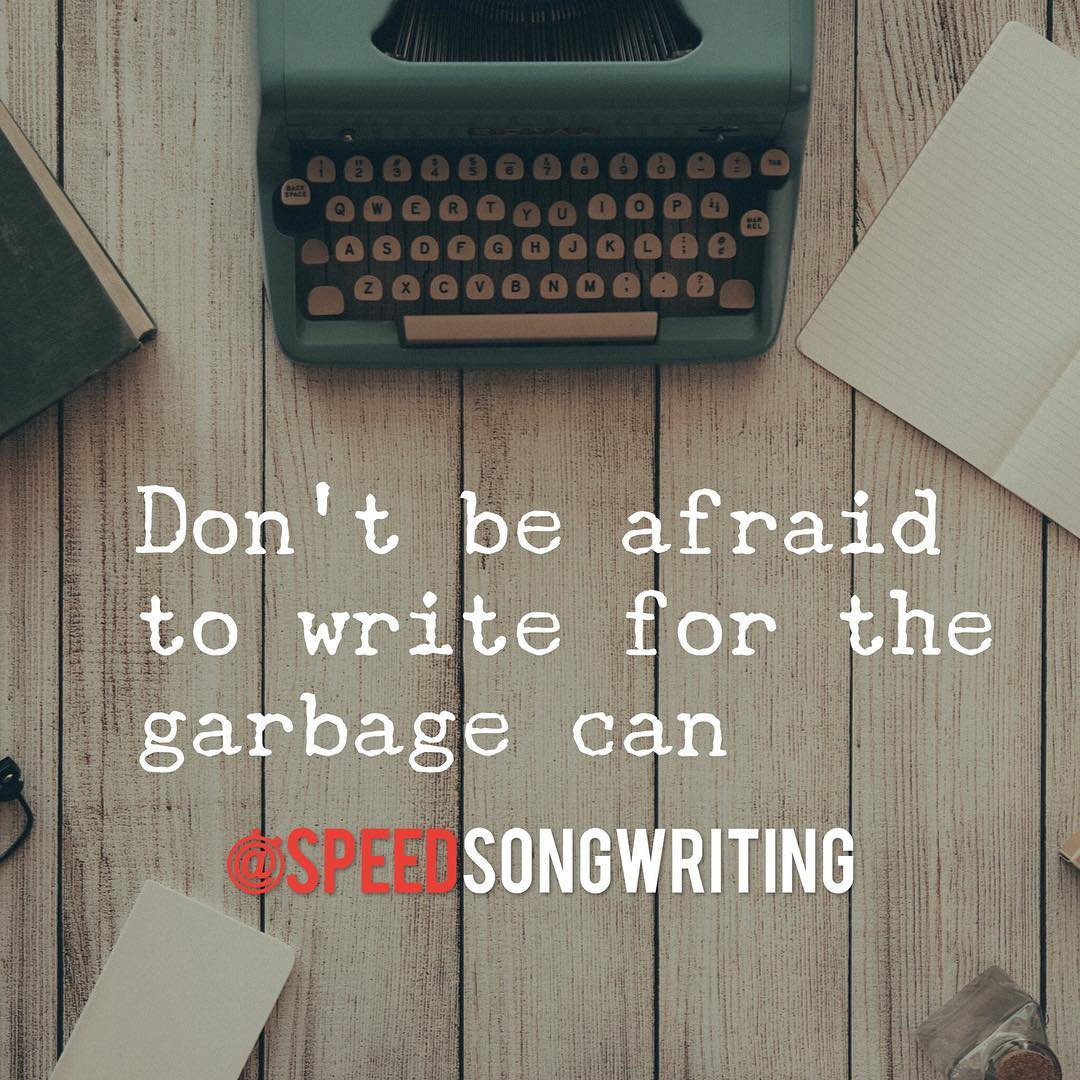 Johnny Mercer said he used to write for the waste basket. Write just to write. Only edit once you have enough material to work with. 🗑✍