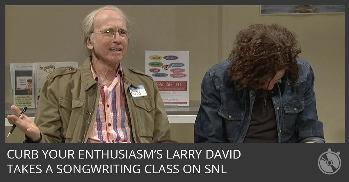 Watch Larry David Crash A Songwriting Class